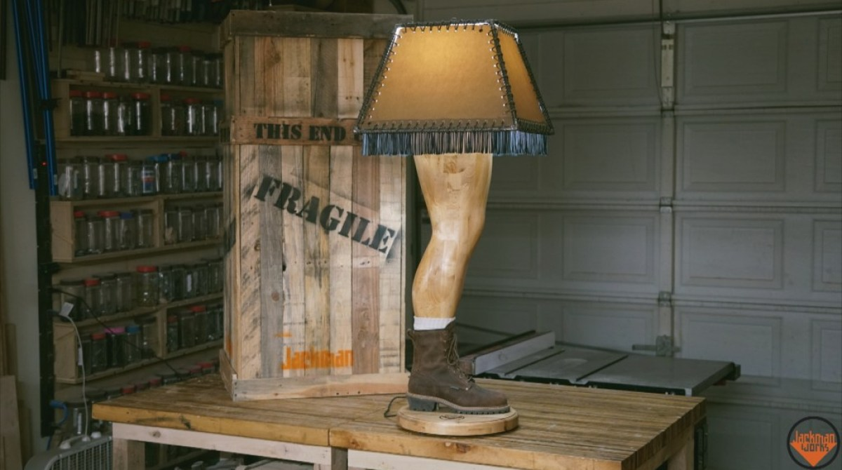 A Christmas Story Lamp.Manly Leg Lamp Puts A Twist On The Classic Christmas Story