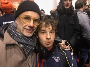 Massimiliano Colella, Director of Asset Camera (the organizing body behind Maker Faire Rome), with his son Gabriel at the Maker Party