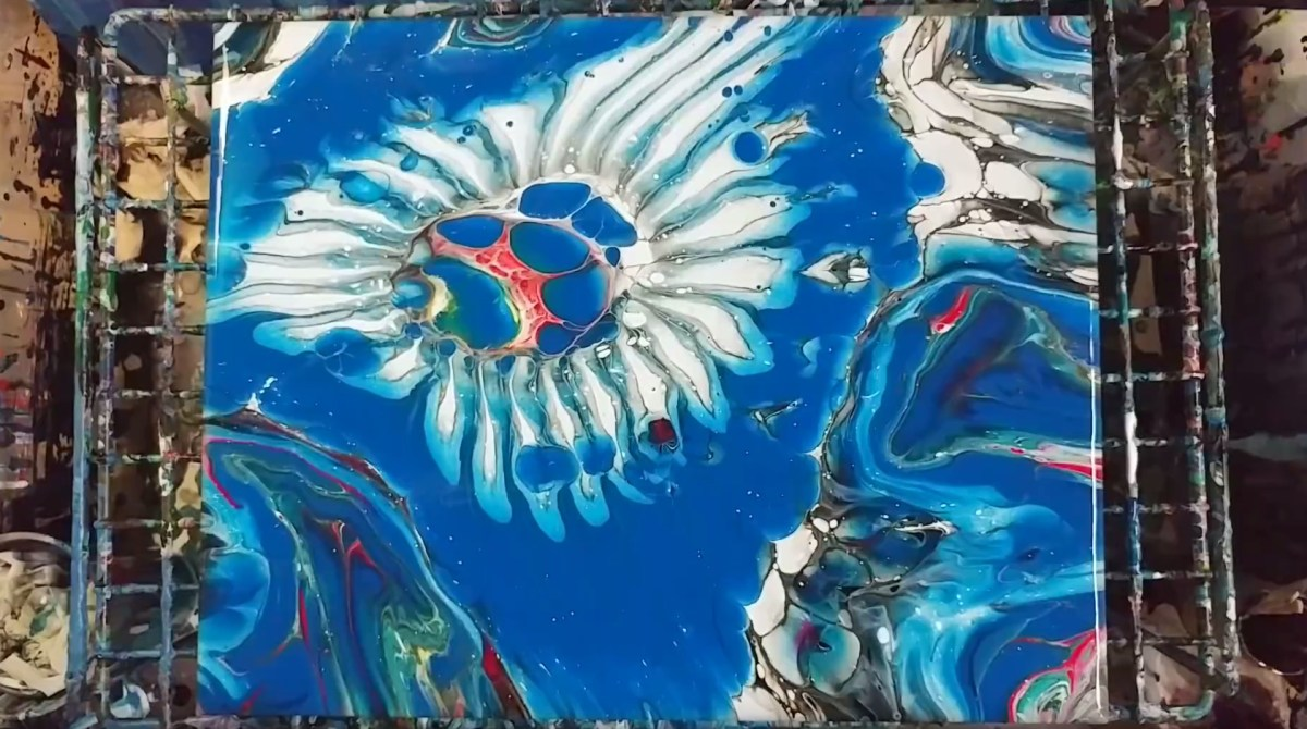 Making Acrylic Pour Art With A Colander Make