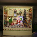Santa and His Merry Band of Elves Come Alive in this Display