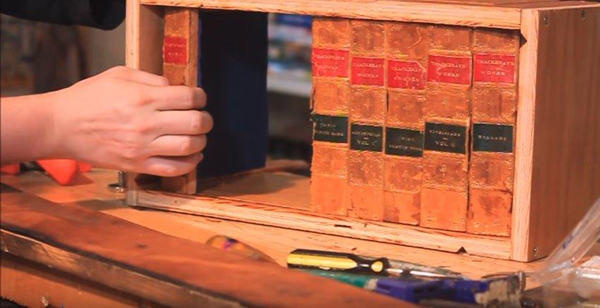 This Clever Secret Hiding Spot Looks Like an Antique Bookshelf