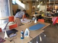 Maker at work creating clothing