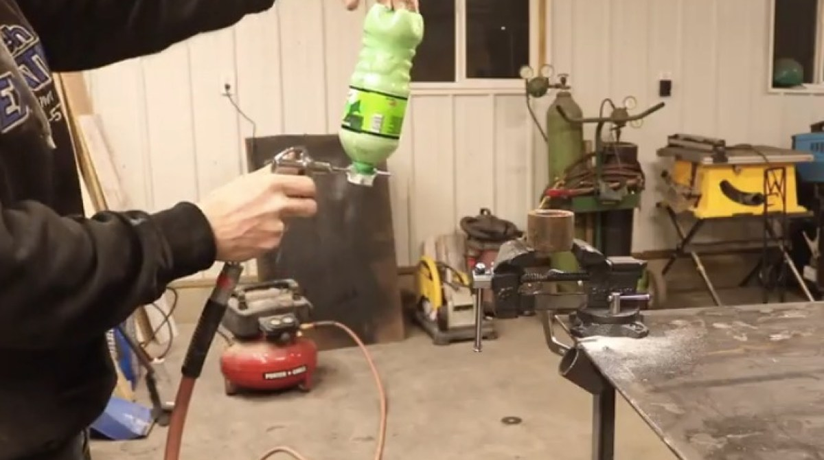 Making a Sandblaster from $6 in Parts and a Soda Bottle