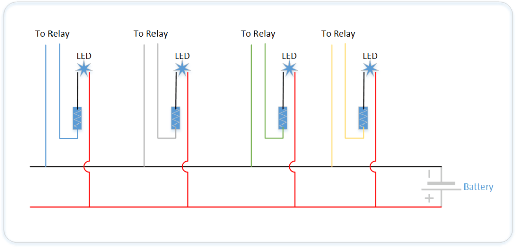 4 Ways to Control Electronic Relays | Make:  Pin Latching Relay Wiring Diagram on latching relay circuit diagram, 8-pin ice cube relay, latching control diagram, 12 volt latching relay diagram, light switch double pole wiring diagram, 8-pin relay retainer,
