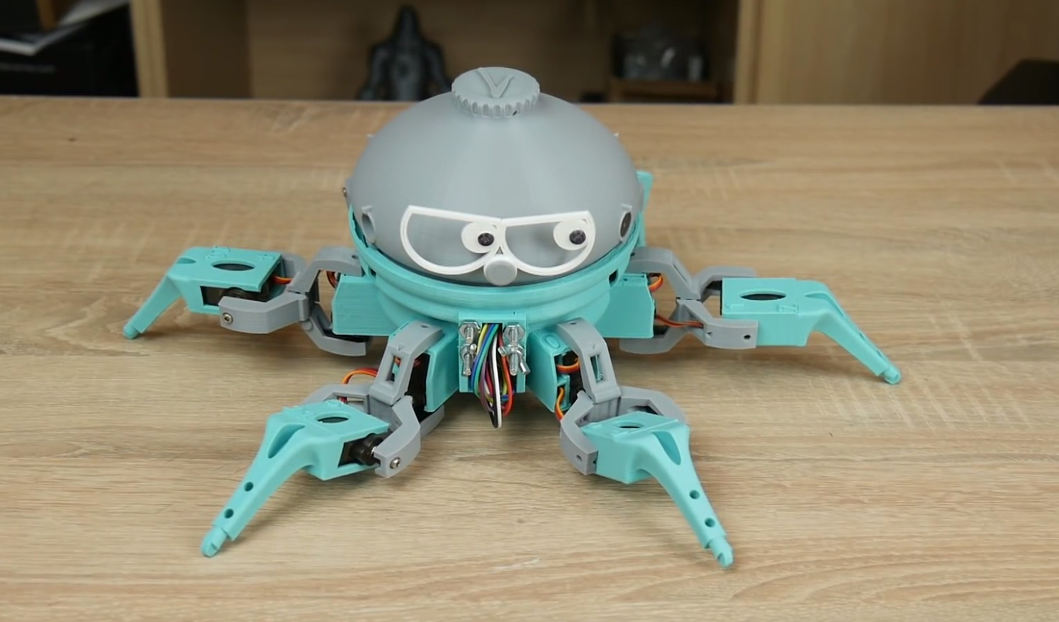 picture about 3d Printable Robot identify This 3D Posted Arduino-Dependent Hexapod Robotic Can Bust a Circulation