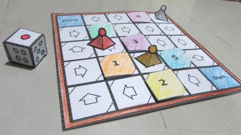Craft Your Own Paper Board Game
