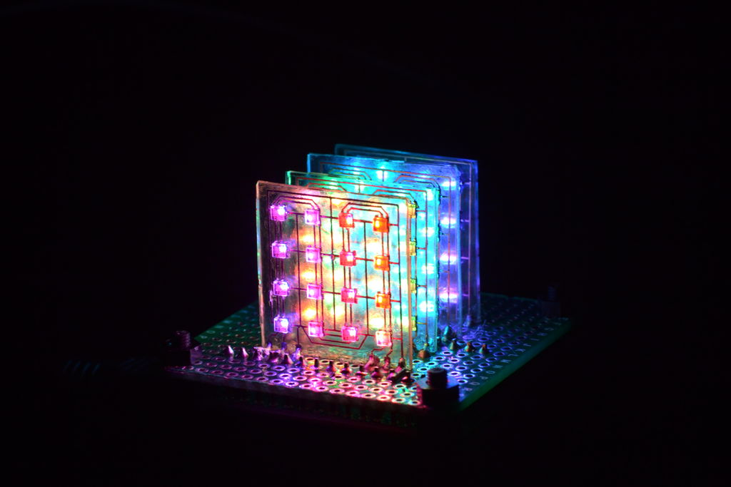 This Unique Take on LED Cubes Uses Glass