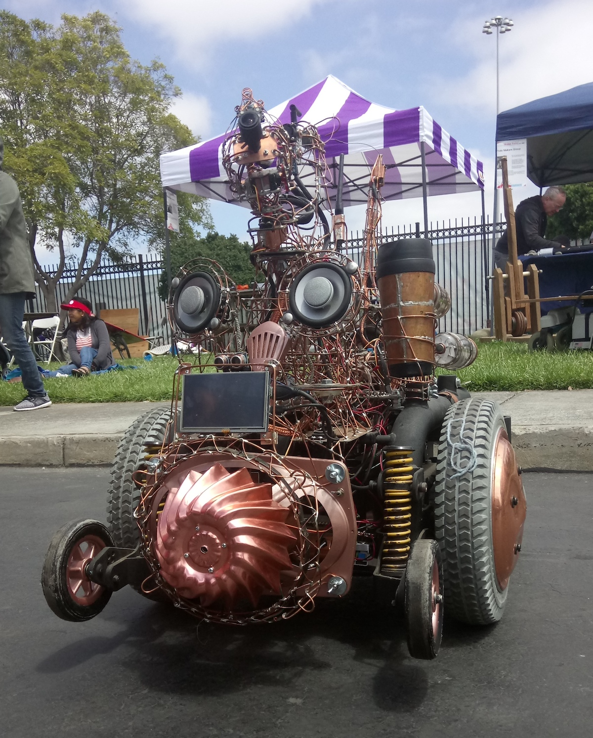 Live Updates From Maker Faire Bay Area 2018 Make Interview Questions Tutorials Circuits Motors Engines And More You Know When Have Some Components Lying Around Just Start With A Wheelchair Base Sensors Outputs Than Can Shake Stick At