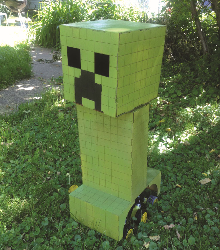 Craft A Minecraft Creeper Robot | Make: