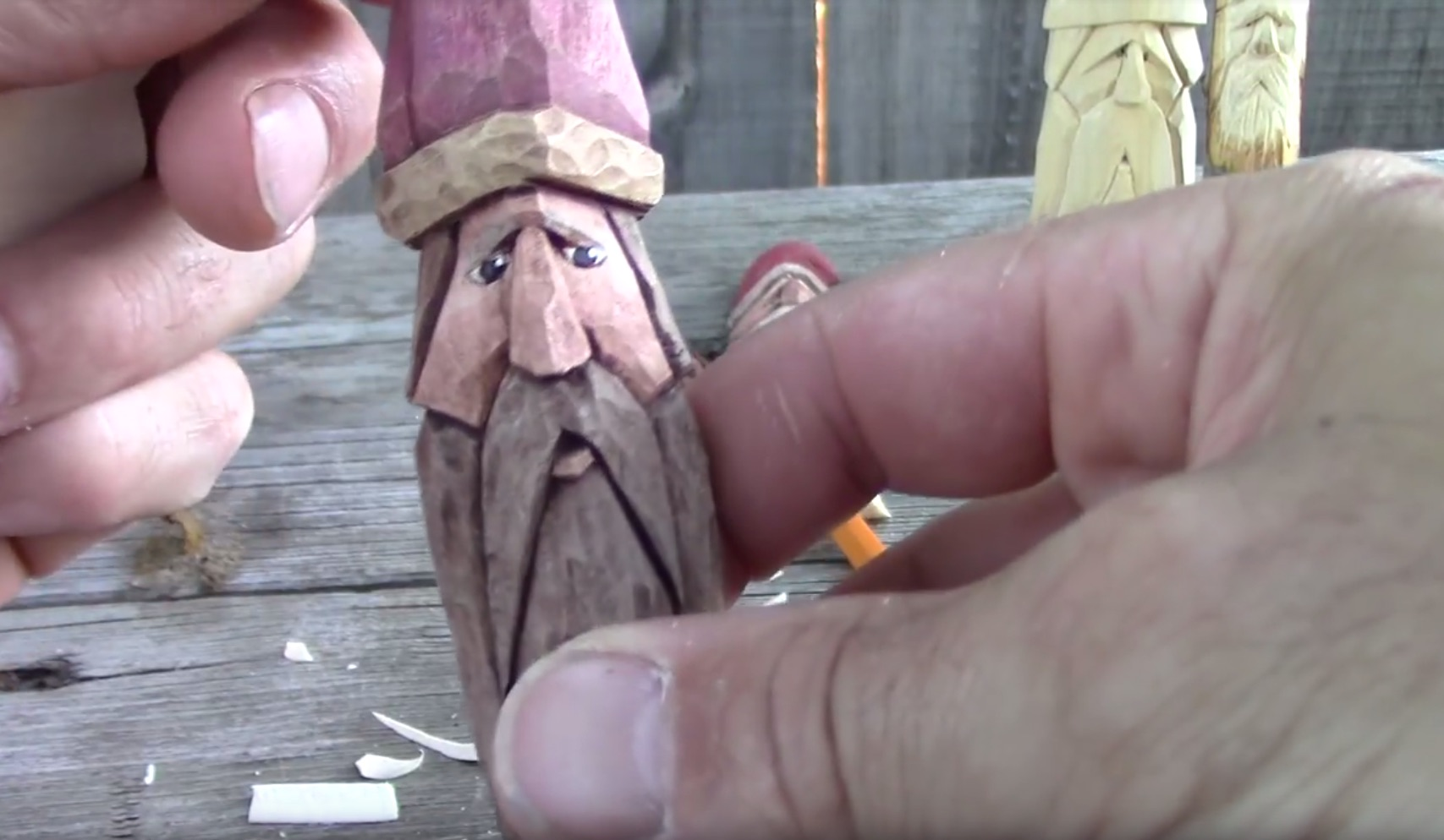Carving a 5-Minute Wood Wizard