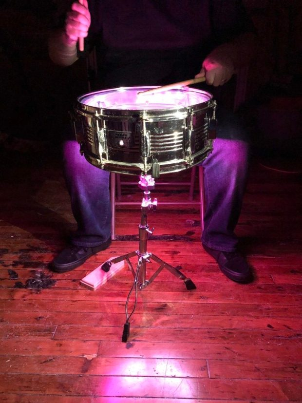 Impact Reactive Snare Drum Lights | Make: