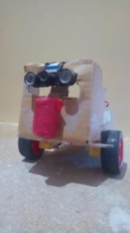 Boland built Cardborg mostly out of cardboard!