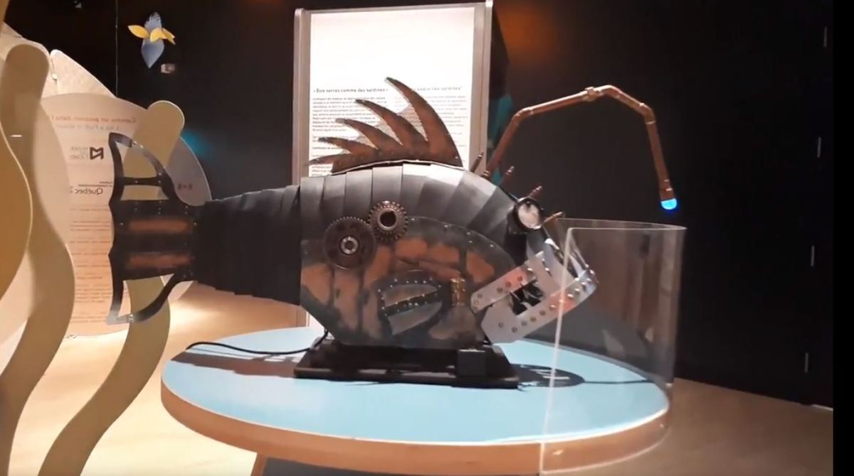 This Meter Long Steampunk Angler Fish Is Comprised Mainly of Scrap