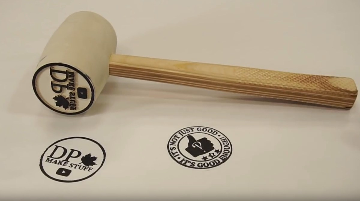 "Making a ""Stammer"" (Stamp Hammer) Out of a Cheap Rubber Mallet"