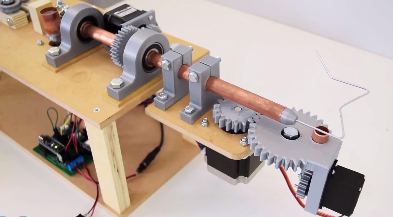 Amazing Arduino-Based, 3D Printed Wire Bending Machine