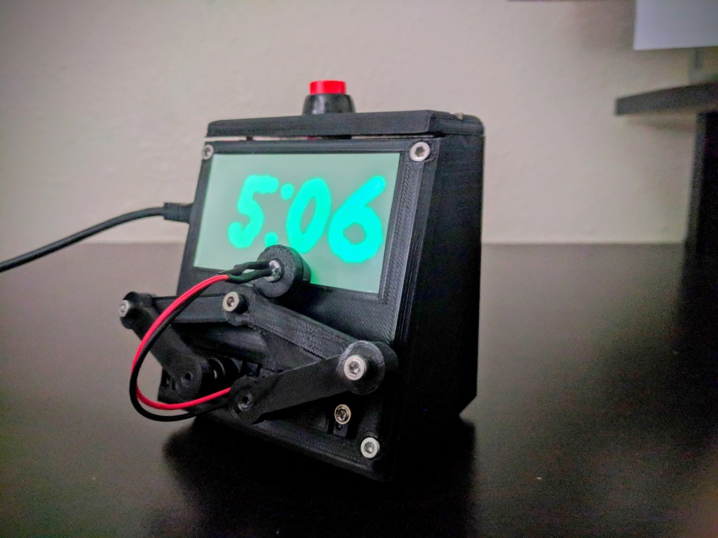 Glow-In-The-Dark Robot Plot Clock