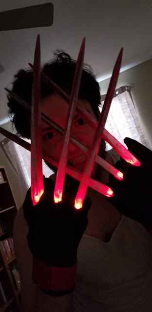 Wolverine Cosplayer Does Comic Version with LED Lit Hot Claws