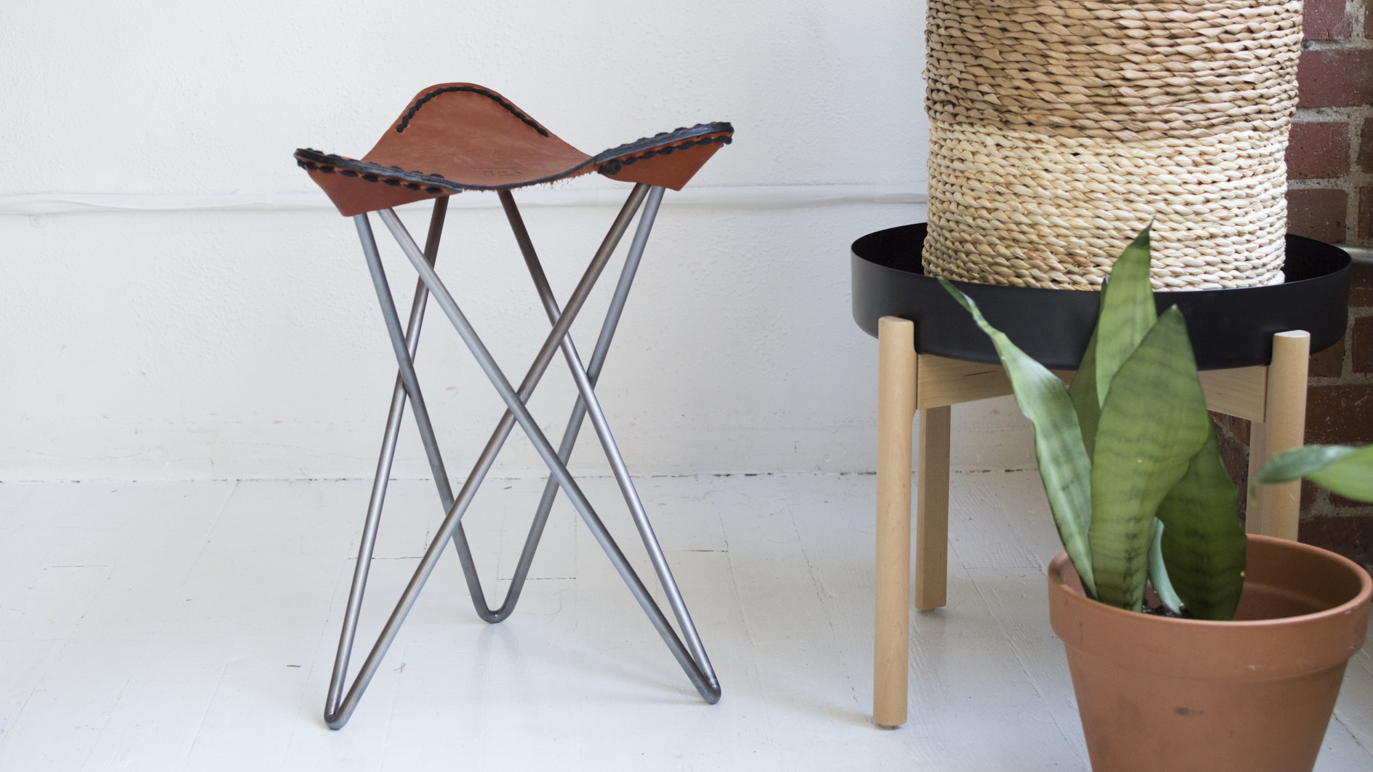 Constructing A Steel and Leather Stool
