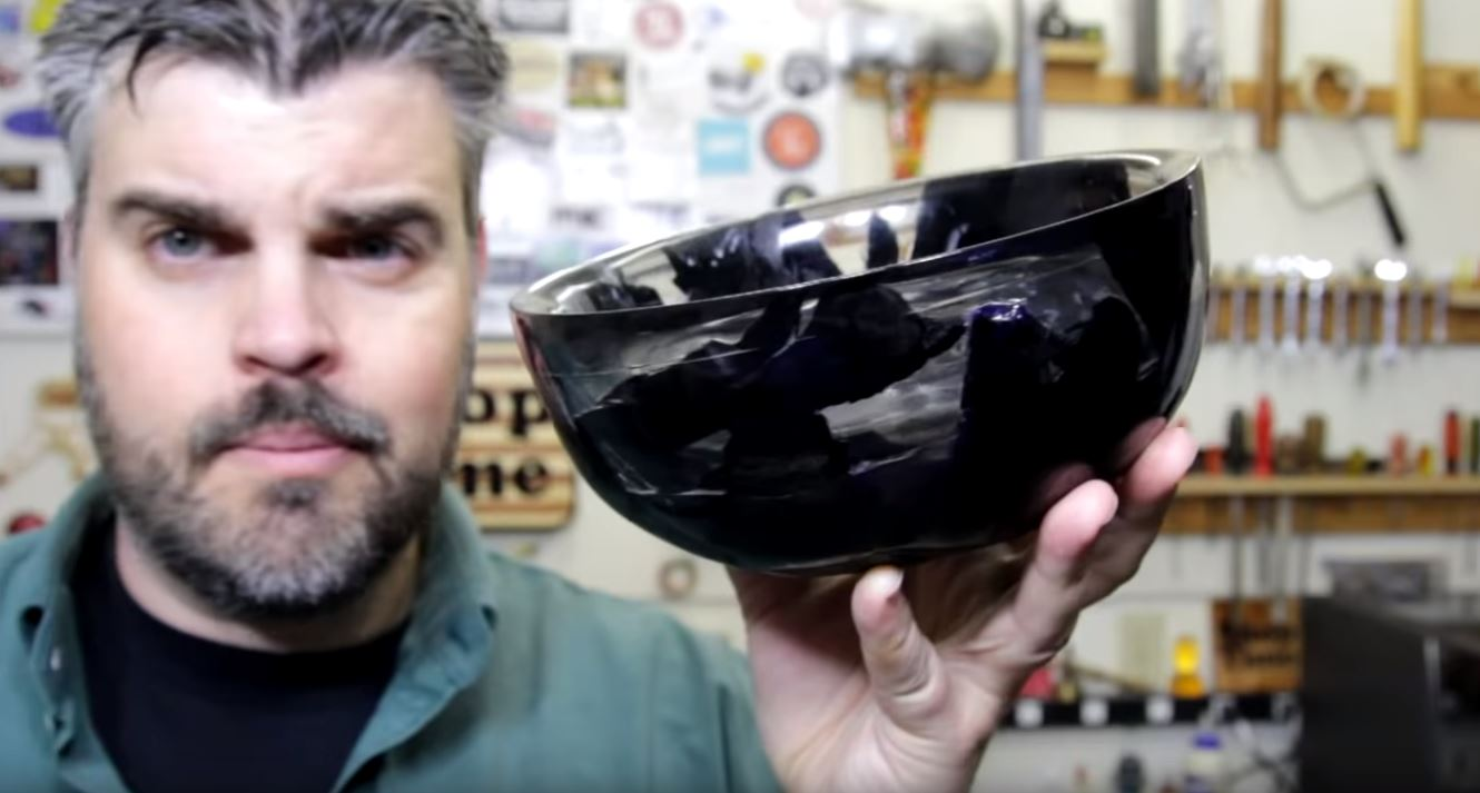 This Charcoal and Resin Bowl Packs A Secret Punch