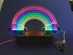 Edge-Lit Rainbow Weather Display