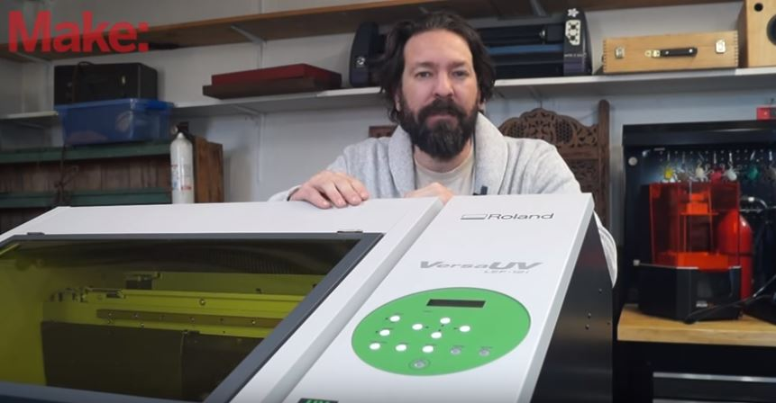 Printing On Nearly Anything With A Roland Flatbed UV Printer