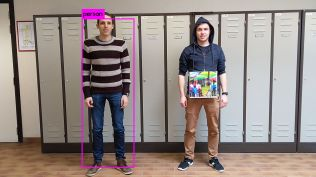 """""""Crowd"""" image confuses a face recognition computer."""