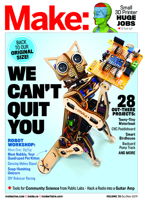 our returning cover, when we came back and starting publishing Make: Magazine again
