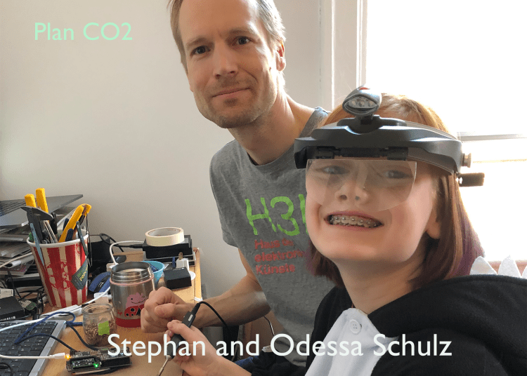 Stephan and Odessa Schulz at a workbench