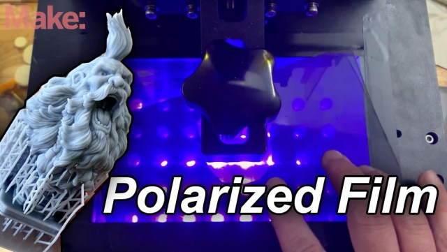 Replacing The Polarized Film On Your Resin  3D Printer