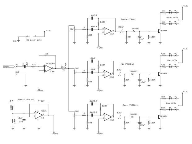 Circuit Skills:     LED Color Organ