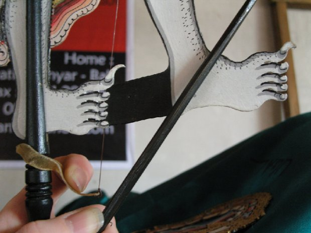 Making A Balinese Shadow Puppet (Test)