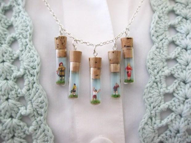 Mini Folk Charm Necklace
