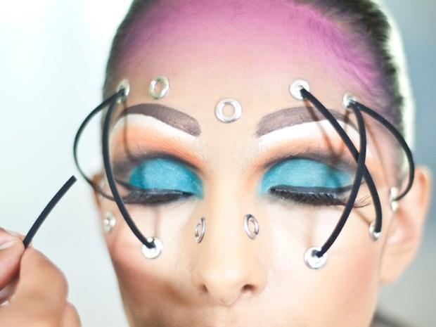 Cage Makeup for Burning Man