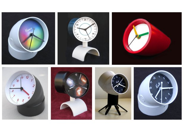 PVC Two-Faced Clock