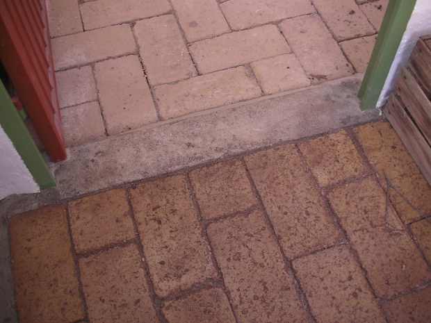 Cheap and Easy Earth Block Floors