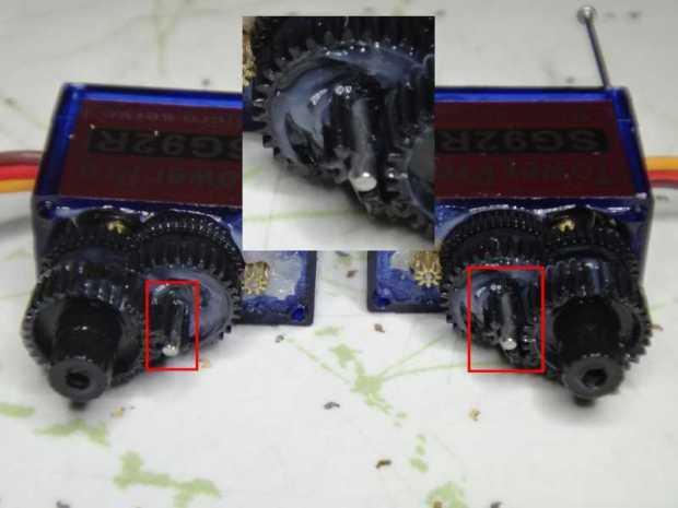 Replacing 9g Servo Gears