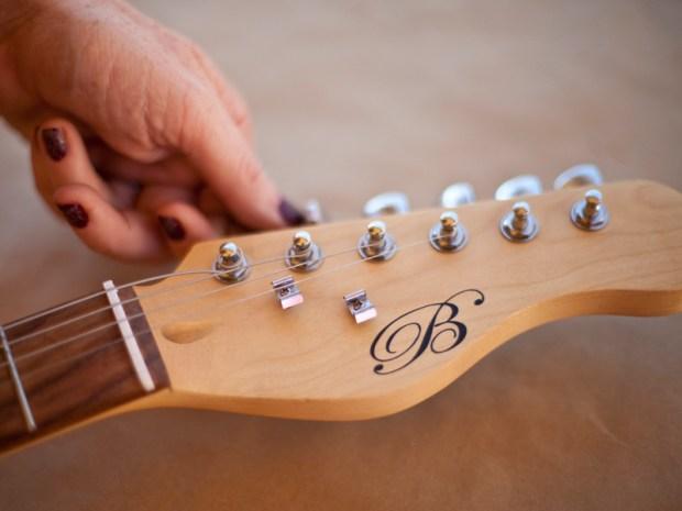 Paint a Glitter Guitar
