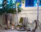Faux Mercury Glass from Recycled Vases