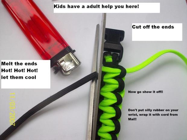 How to make a paracord 550 survival bracelet