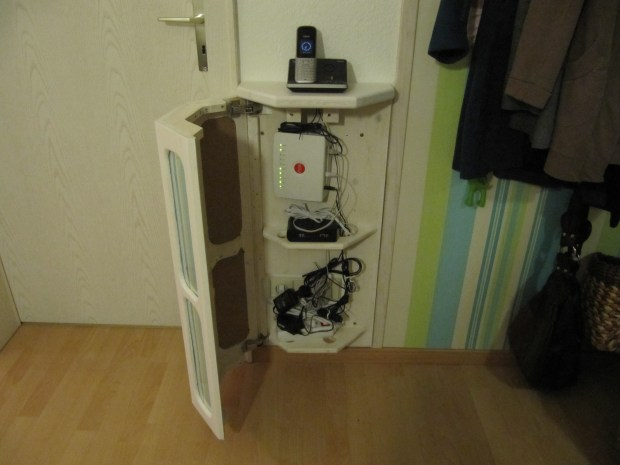 Telephone and WLAN Router Cabinet