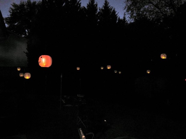 Floating Jack-o-Lanterns