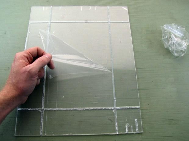 Tape-Hinge Acrylic Box Construction