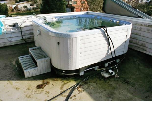 Solar Hybrid Hot Tub