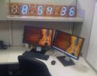 4-Foot Wooden Digital Clock