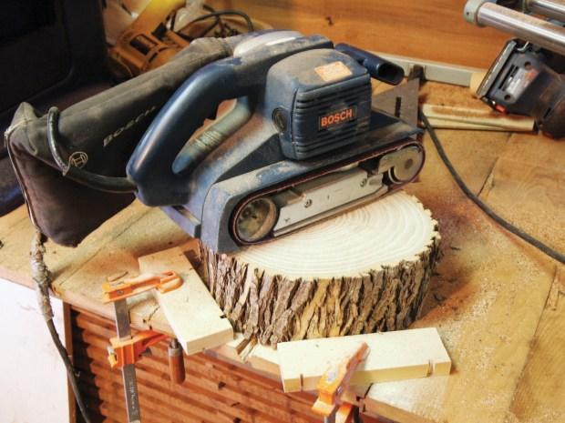 Rustic Wood Side Table