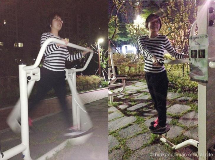 公園の運動器具
