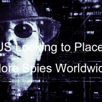 スパイのイメージ図上にUS Looking to Place More Spies Worldwide