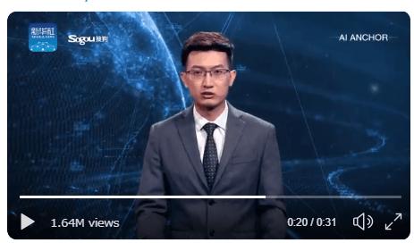 中国の新華社AIのTwitter