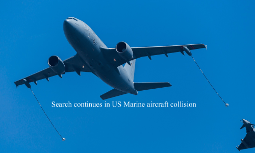 Search continues in US Marine aircraft collision