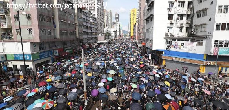 香港のデモの様子